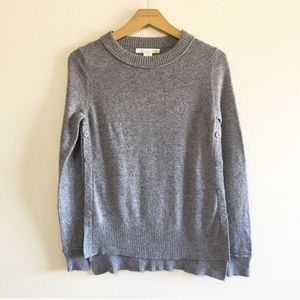 C&C California Button Sides Wool Knit Sweater